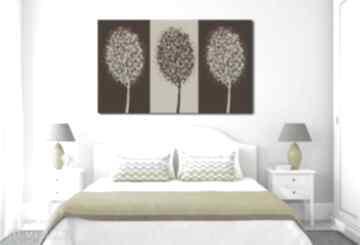 Obraz xxl drzewo 11 - 120x70cm na płótnie brąz beż aleobrazy