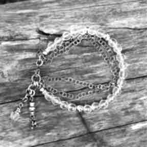 Bransoletka z kryształem górskim magdalena markowicz