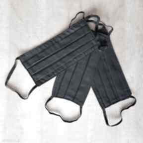 Pakiet 3 sztuki czarna maseczka kosmetyczna ochronna unisex