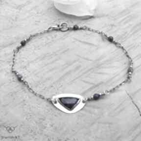 Szafir trójkątnie - bransoletka jewelsbykt srebrna bransoletka