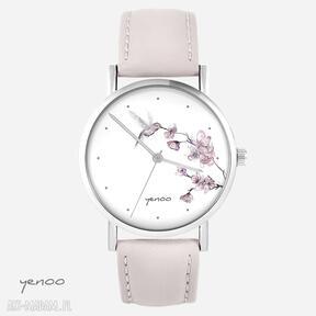Zegarek - koliber, oznaczenia pudrowy róż, skórzany zegarki