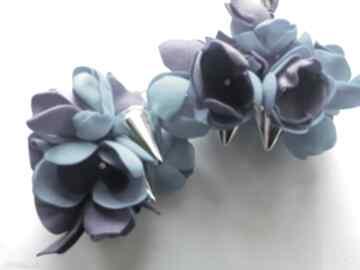 Kolczyki pankowe kwiaty i kolce lekkie w stylu boho, box x1