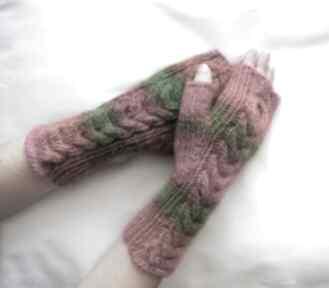 Mitenki tęczowe rękawiczki izabelaart1 modne, kolorowe,