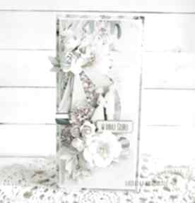 Kartka ślubna w pudełku, 687 scrapbooking kartki vairatka