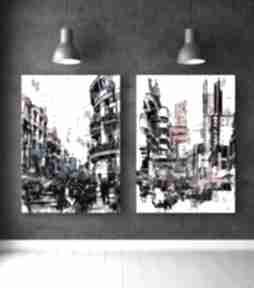 Zestaw plakatów abstrakcje - format 50x70 cm plakaty hogstudio