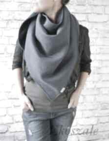 Chusta xxl ciemny jeans chustki i apaszki ekoszale bawełna