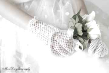Rękawiczki komunijne dla dziecka mondu rękawiczki, ażurowe