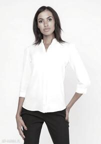 Lekka koszula o luźnym kroju, k110 ecru bluzki lanti urban