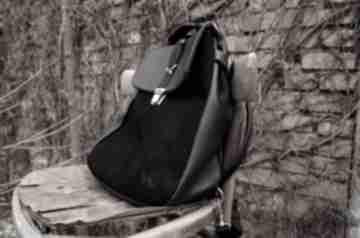 Lilith plecak torba czarna skóra czajkaczajka plecak, skóra