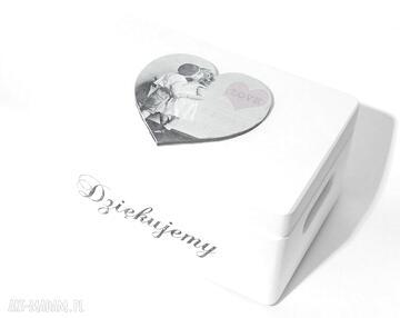 Ślubne pudełko na koperty kopertówka uniwersalne serce love