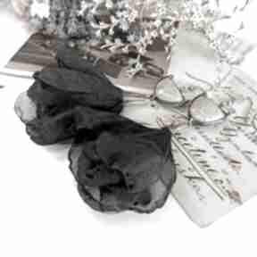 Baletnice - długie wiszące kolczyki viviart fossil, koral kwiaty