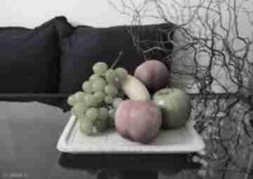 Duży talerz dekoracyjny na przekąski, patera owoce, taca
