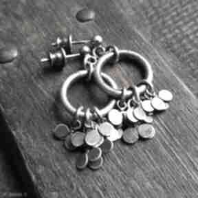 Minimalistyczne kolczyki ze srebra - listki treendy listki