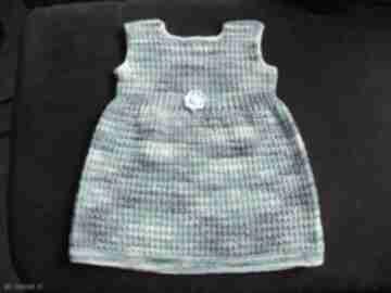 """Bawełniana sukienka """"niebieski melanż"""" gaga art sukieneczka,"""