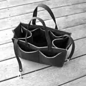Organizer filcowy do torebki - dużo kieszonek czarny beltrani