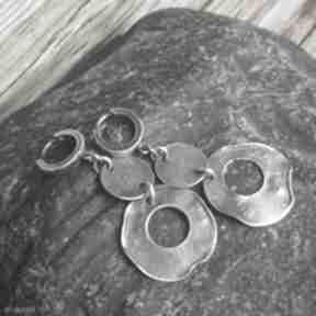 Treendy kolczyki srebrne, biżuteria autorska, na prezent, srebro