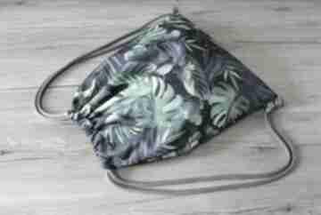 Worek plecak - monstery i tropikalne liście torebki niezwykle