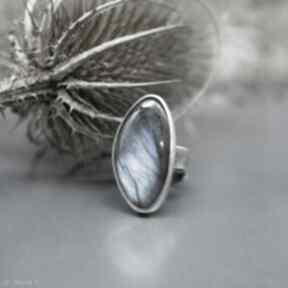 BranickaArtsrebrny-pierścionek labradoryt rozmiar-regulowany