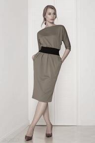 Sukienka mono khaki sukienki kasia miciak design sukienka, khaki