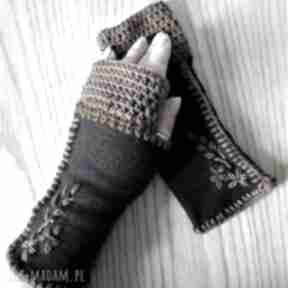 Rękawiczki mitenki the wool art rękawiczki, mitenki, jesienne,