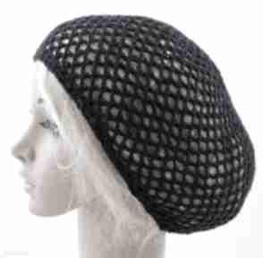 Czapka letnia - granatowa siatka na włosy czapki barska czapka