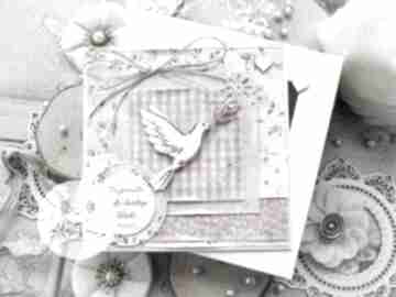 Pomysł na świąteczny prezent! Kartka w pudełku z gołąbkiem