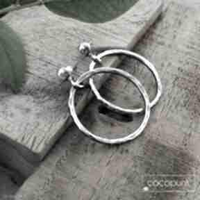 3 cm kolczyki srebrne koła - nowoczesne, lekkie cocopunk