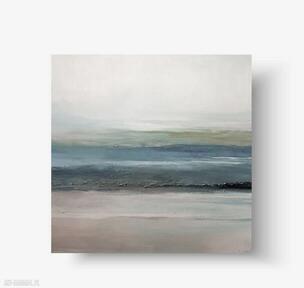 Morze-pejzaż-obraz akrylowy 70 cm paulina lebida obraz, kwadrat