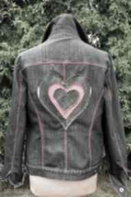 Jeansowa kurtka z sercem gabiell kurtka, jeans, dżins, serce