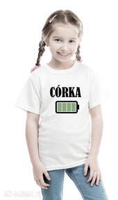 Koszulka dla rodziny dziecięca - córka bateria koszulki