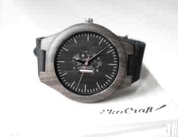 Drewniany zegarek skeleton zegarki ekocraft zegarek, męski