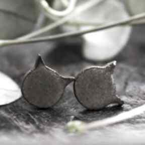 Ceramiczne kolczyki studio pod kloszem kolczyki, sztyfty
