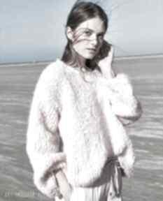 Sweter kelowna swetry dziane sweter, ręcznie, dziergany, miękki