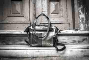 Skórzana, ręcznie wykonana torebka w stylu vintage, oryginalna