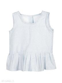Wool and Woodbluzka top koszulka bawełna kratka