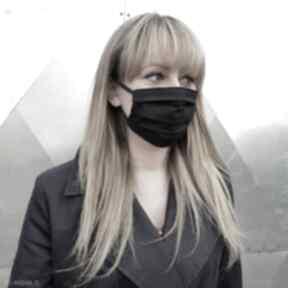 Czarna maska kosmetyczna ochronna unisex męska damska bawełna