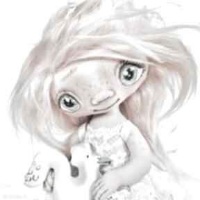 Szkrab - lalka kolekcjonerska figurka tekstylna ręcznie szyta