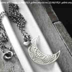 W blasku księżyca naszyjnik ze srebra naszyjniki szarotka