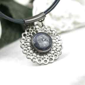 Koronkowy naszyjnik z lapis lazuli a862 naszyjniki artseko