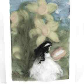 Zaczytana wśród narcyzów wiosenny obraz kolekcji die wunderschöne
