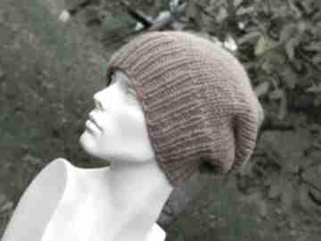 100% wool zimowa wełniana czapka miedziana z lamówką czapki aga