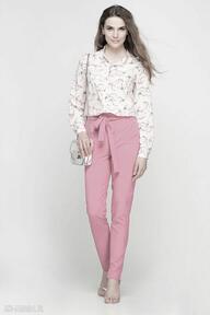 Koszula z dłuższym tyłem, k104 jaskółki róż bluzki lanti urban