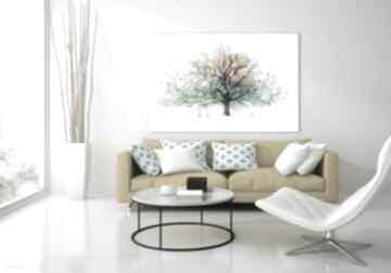 Obraz do salonu drukowany na płótnie z drzewem, kolorowe drzewo
