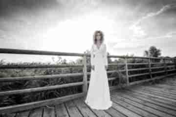 Magdalena maxi hypnotic white ślub milita nikonorov suknia,