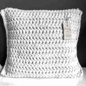 Poduszka ze sznurka bawełnianego krem 40x40 cm poduszki
