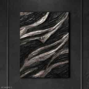 Gold mine - wielkoformatowy obraz na płótnie abstrakcyjny art&texture™