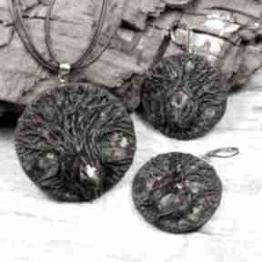 Magiczne drzewo - oyginalny komplet biżuterii z kryształami