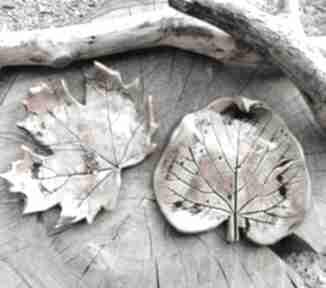 Komplet ceramicznych talerzyków, liście c280 ceramika shiraja