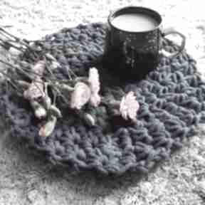 Okrągła podkładka na stół ze sznurka bawełnianego - model star