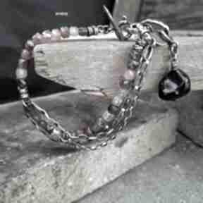 Turmalin - unisex bransoletka 01 arvena srebro, turmaliny
